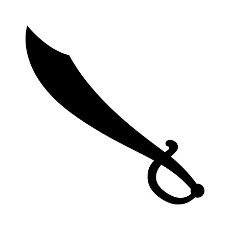cutlass: Cutlass pirate sword flat icon for games and websites