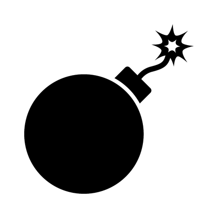explosives: Bomb explosive device flat icon for games and websites Illustration