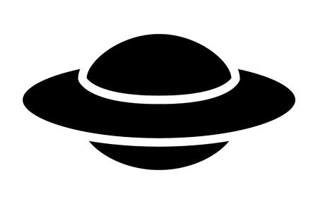 UFO alien schotel - unidentified flying object flat icoon voor apps en websites