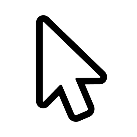 computer mouse: Computer mouse pointer cursor arrow line art icon for apps and websites