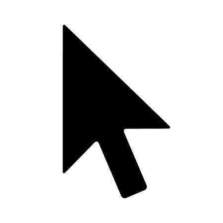 Computer mouse pointer cursor arrow flat icon for apps and websites Illustration