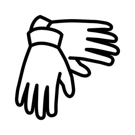 warmer: A pair of gloves for hand protection line art icon for apps and websites Illustration