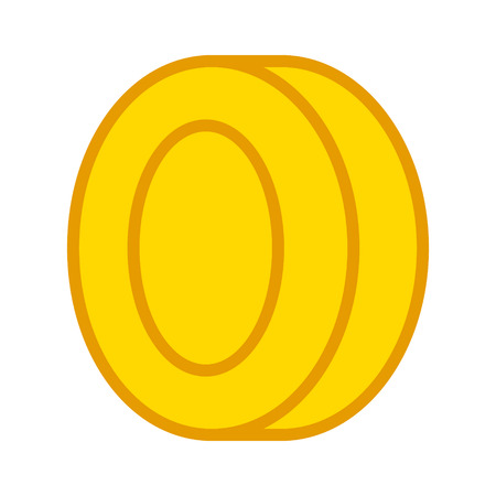 loot: Gold video game coin line art icon for games and websites