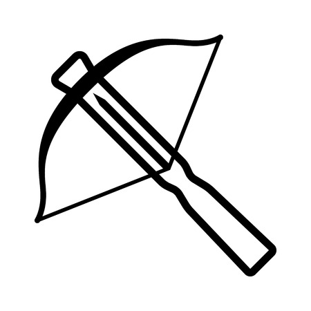 projectile: Crossbow projectile weapon line art icon for games and websites
