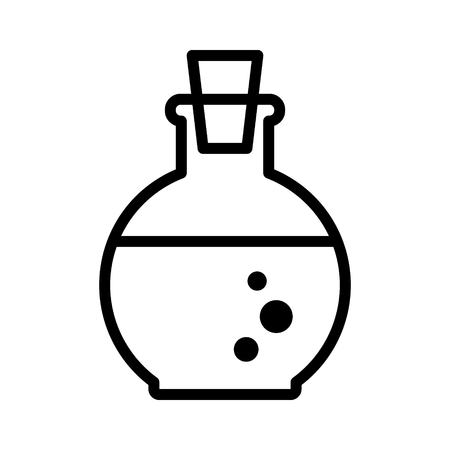 Health or magic mana potion bottle line art icon for games and websites