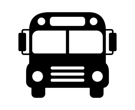 schoolbus: School bus or schoolbus transportation vehicle flat icon for apps and websites Illustration