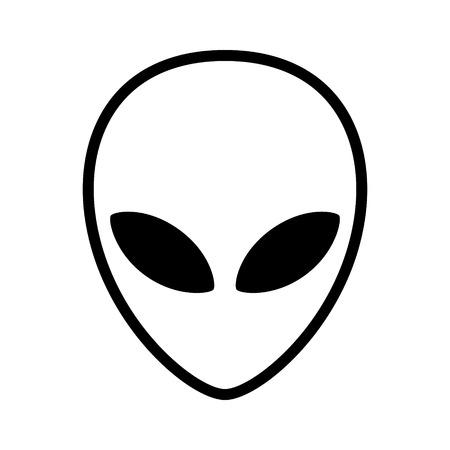 visage étranger Extraterrestre ou la tête ligne de symbole icône de l'art pour les applications et les sites Web