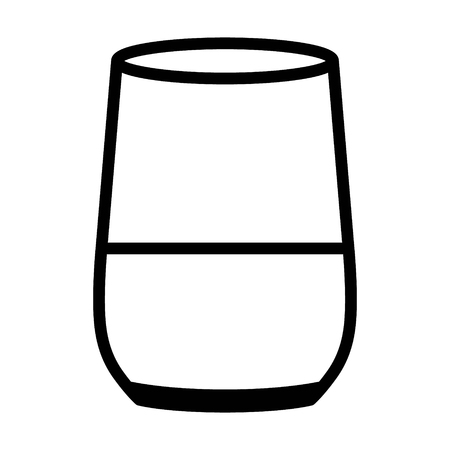 Smart home speaker with digital / virtual assistant line art icon for apps and websites  イラスト・ベクター素材