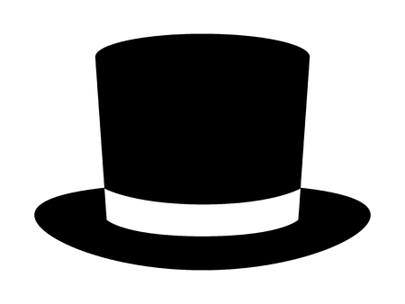 tophat: Magic top hat or high hat flat icon for apps and websites