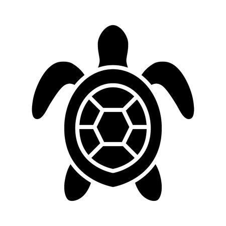 lifeform: Sea turtle  marine turtle top view flat icon for nature apps and websites