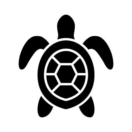 Zee schildpad  zeeschildpad bovenaanzicht plat pictogram voor natuur apps en websites