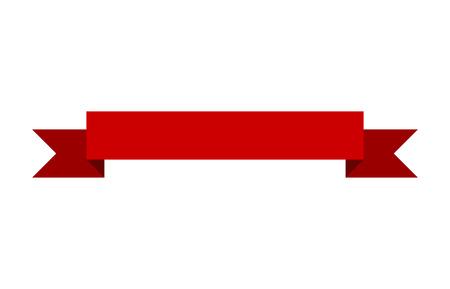 印刷とウェブサイト赤い旗リボン フラット ベクター デザイン  イラスト・ベクター素材