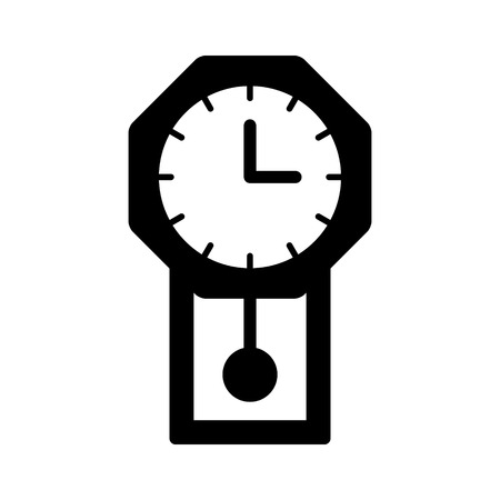 pendulum: Vintage pendulum wall clock flat icon for apps and websites