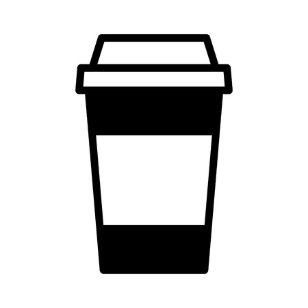 cappucino: Coffee or tea in disposable paper cup flat icon for apps and websites