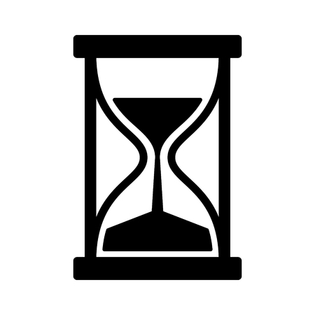trickle down: Vintage hourglass  sandglass timer or clock with handles flat icon for apps and websites