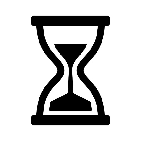 trickle down: Vintage hourglass  sandglass timer or clock flat icon for apps and websites Illustration
