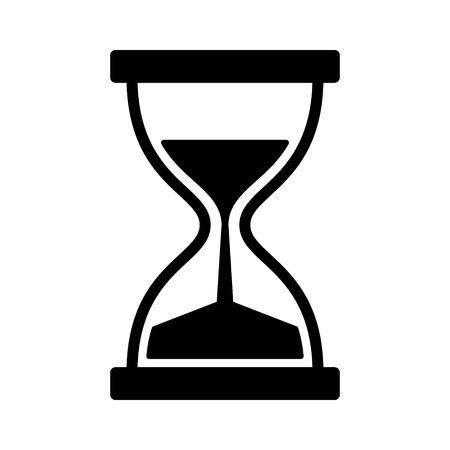 응용 프로그램 및 웹 사이트를위한 빈티지 모래 시계  모래 시계 타이머 또는 시계 평면 아이콘