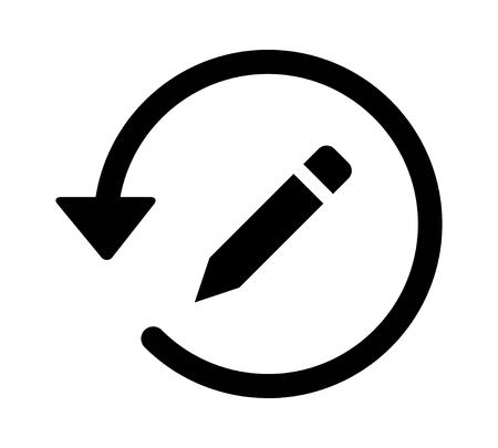 rewriting: Past edit  editing history arrow flat icon for apps and websites