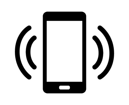 incoming: Smartphone  mobile phone ringing or vibrating flat icon for apps and websites
