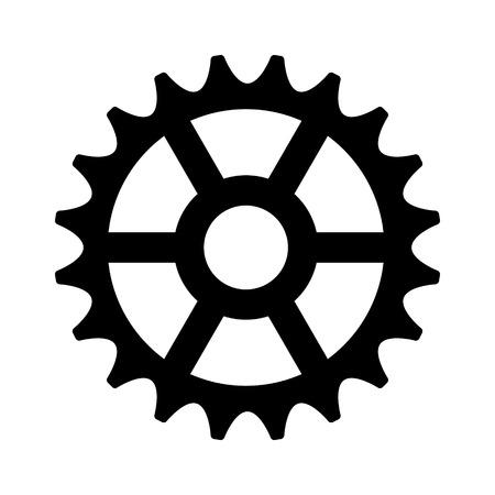 Piñón del engranaje de cremallera / máquina plana icono de pieza para aplicaciones y sitios web Foto de archivo - 58461137