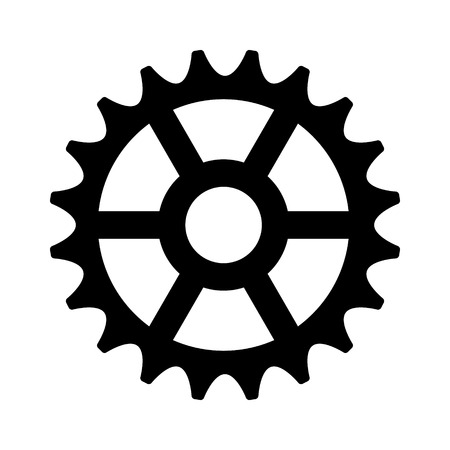 rotating parts: Sprocket cogwheel gear  machine part flat icon for apps and websites