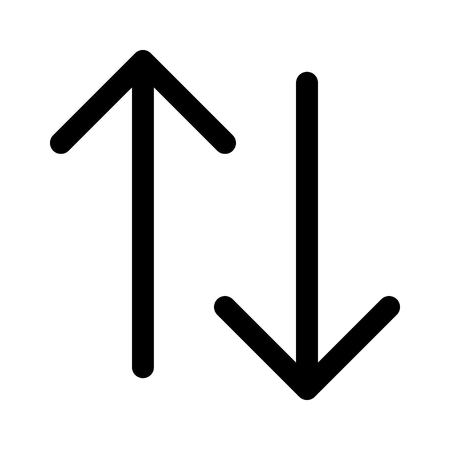 Up and down arrow line art icon for apps and websites