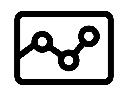 Graph / graphing or data visualization line art icon for apps and websites Illusztráció