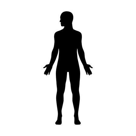 man full body: Male human body with head turned to side flat icon for apps and websites