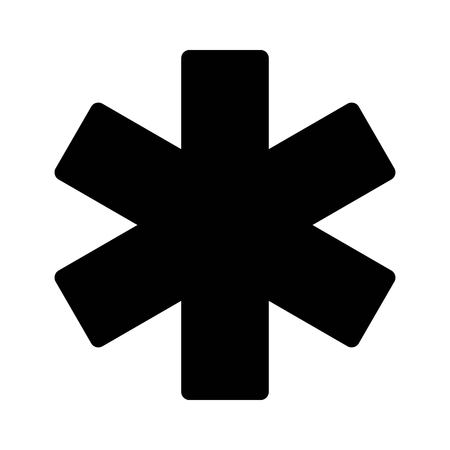 Star of life medical id or identification flat icon for apps and websites