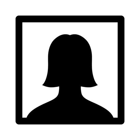 응용 프로그램 및 웹 사이트를위한 여성 selfie 초상화 그림  사진 평면 아이콘