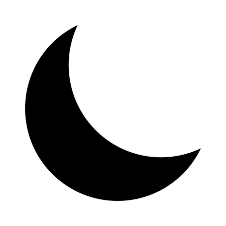 Crescent moon or night  nighttime flat icon for apps and websites