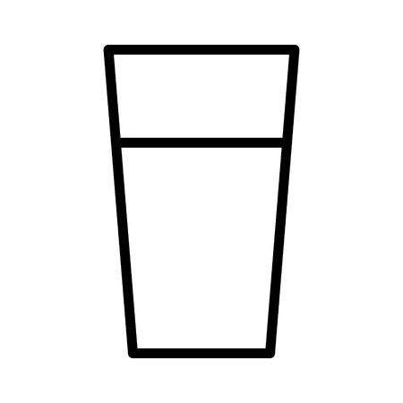 Cup of drinking water line art icon for apps and websites