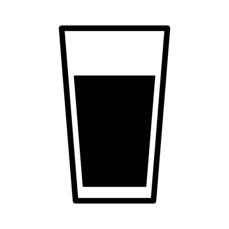 Cup of drinking water flat icon for apps and websites