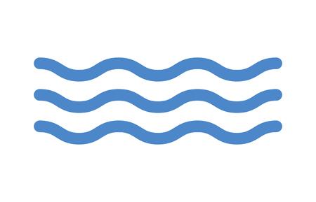 océano azul del icono del arte de línea de agua de mar para aplicaciones y sitios web