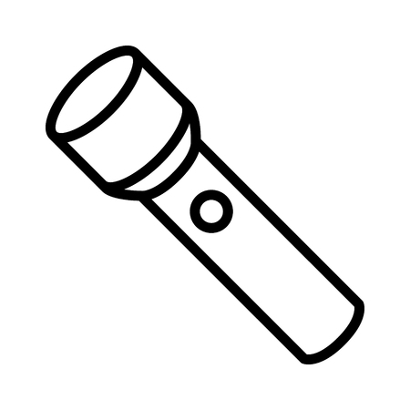Flashlight / flash light or torch line art icon for apps and websites