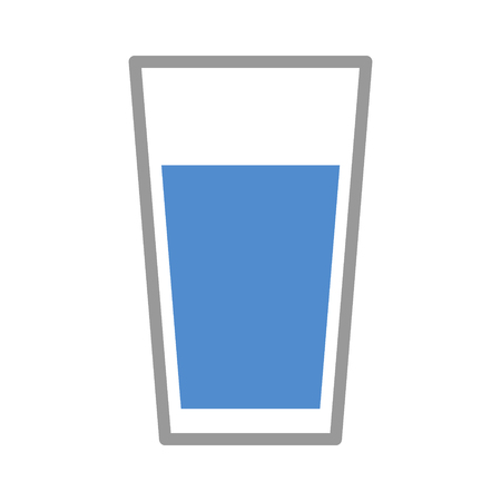 Cup of drinking water flat color icon for apps and websites Illustration