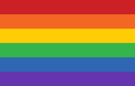 Gay pride movement rainbow banner flag flat vector illustration for apps and websites Illustration
