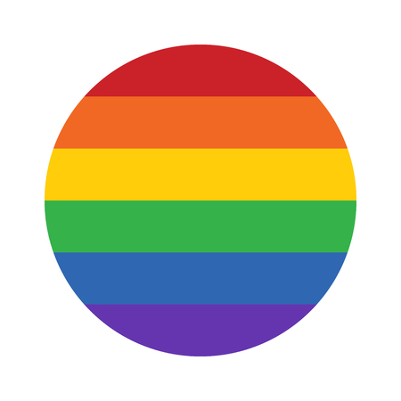 rainbow circle: Gay pride movement rainbow circle flat vector icon for apps and websites