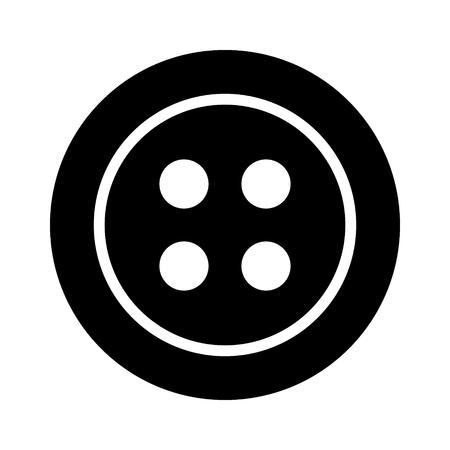 Ropa para el botón de cierre de la moda icono plana para aplicaciones y sitios web