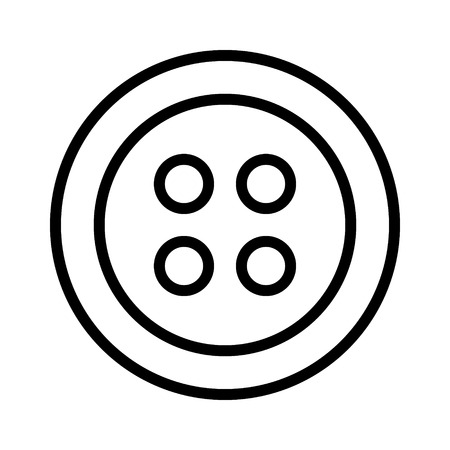 fastener: Clothing for fashion fastener button line art icon for apps and websites Illustration