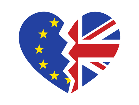 Brexit or Britain exiting  withdrawal from the European Union flat icon for websites