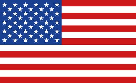 drapeau ou le drapeau des États-Unis Amérique image vectorielle plate américaine Vecteurs