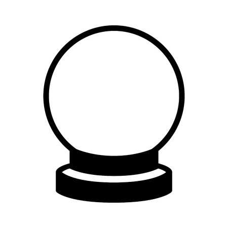 gazing: Crystal ball of fortune telling flat icon for apps and websites Illustration