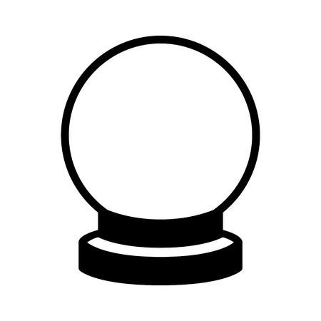 Kristallen bol van waarzeggerij flat icoon voor apps en websites