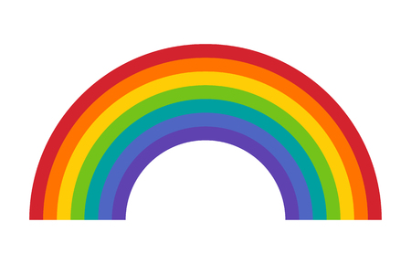 Colorful rainbow or color spectrum flat icon for apps and websites 向量圖像