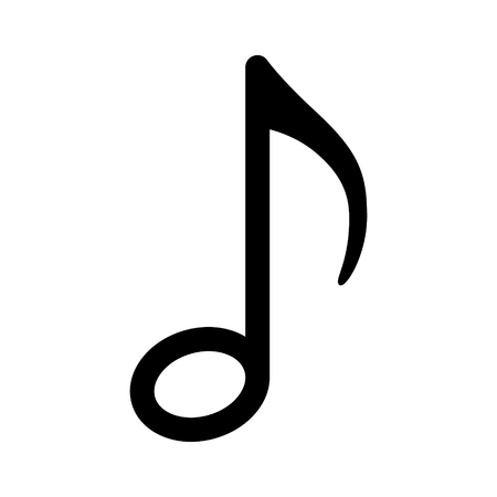 Quaver music  musical note line art icon for radio apps and websites