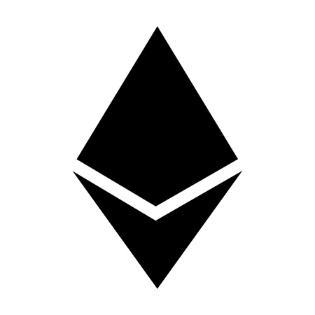 ether: Ethereum crystal or ether cryptocurrency flat icon for apps and websites