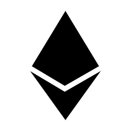 Ethereum kristal of ether cryptogeld flat icoon voor apps en websites Stock Illustratie