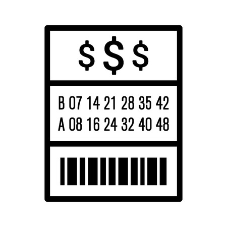 lotto: American lottery  lotto ticket line art vector icon for websites Illustration