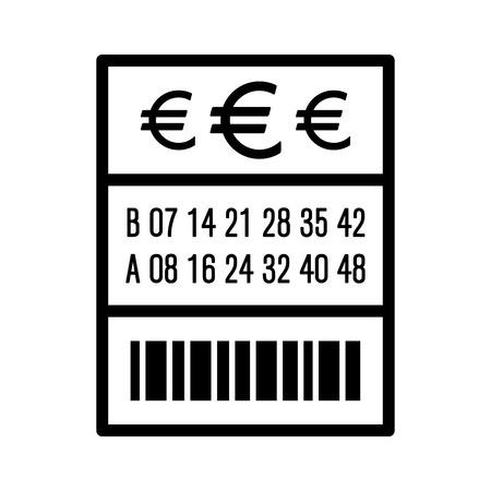 lotto: European lottery  lotto ticket line art vector icon for websites Illustration